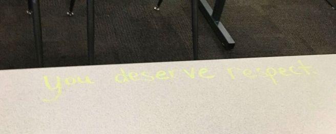 you deserve respect